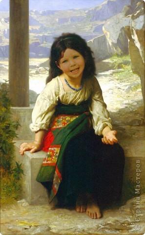 """фотомонтаж картины """"Девочка и горы"""". фото 1"""