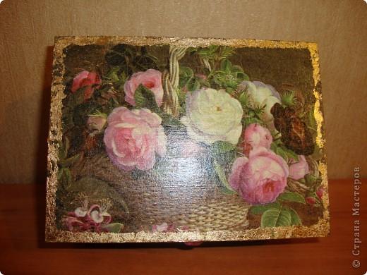 Декоративная шкатулка фото 2