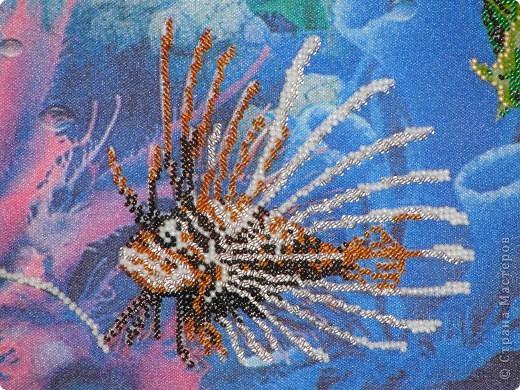 """Частичная вышивка """"Подводный мир"""" фото 3"""