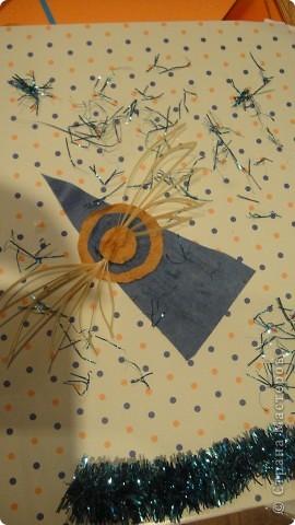материал:бумага ,картон,мишура,полосы бумажные фото 1