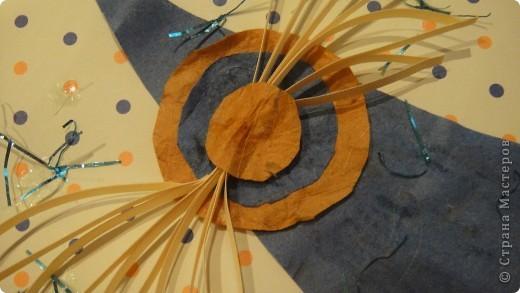 материал:бумага ,картон,мишура,полосы бумажные фото 2
