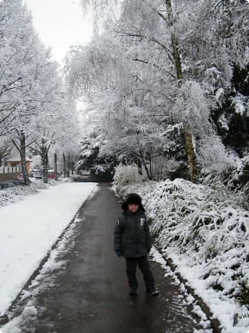 Вот таким был наш первый снег! Зима у нас началась очень рано для Германии - в ноябре. фото 2