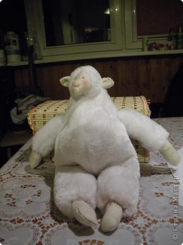 Уже давно хотела сшить тильдовскую овцу, уж очень они меня умиляют. Вот он - первый опыт фото 1