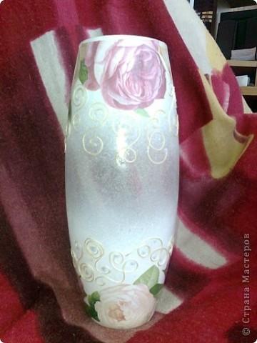 Видела где-то в интернете подобную вазу.вот решила тоже сделать фото 1