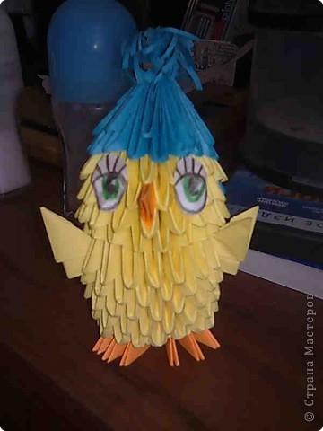 А это мой птенчик оригами... На большие поделки к сожалению пока времени не хватает...