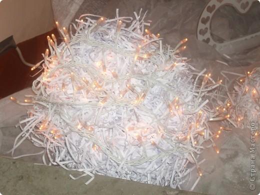 Наши ёжики и цветы из полосок бумаги(бумага пропущена через аппарат для уничтожения документов) фото 10
