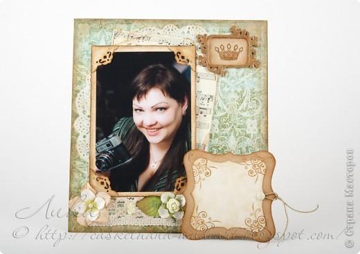 9 января у моей лучшей подруги был день рождения. Для неё я сделала рамочку, даже, вернее, рамочку-страничку и ежедневник. Рамочка-страничка фото 2