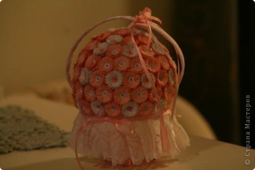 Сделала вот такую корзиночку в подарочек на крестины, надеюсь понравится  фото 4