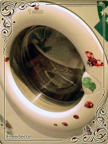 """Мастер-класс """"Декорирование стиральной машины"""""""