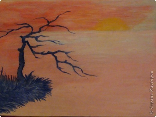 Море.Закат...и синее Дерево... фото 1