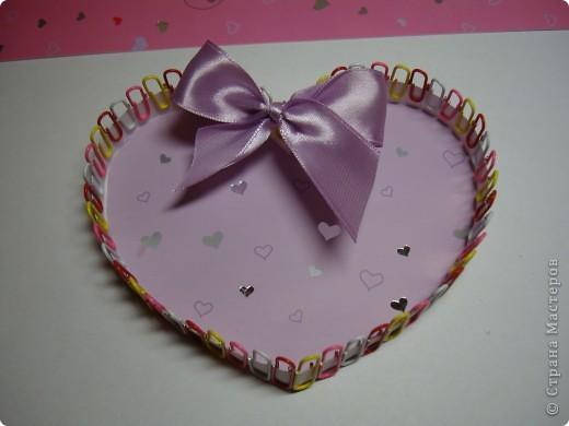 Эти коробочки можно сделать разной формы.К ближайшему празднику, Валентинову дню, у нас получились коробочки-сердечки. фото 1