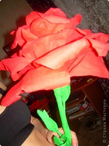 Роза из гофрбумаги фото 3