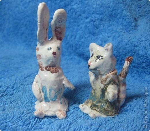 Знакомьтесь. Чеширский кот. Автор - Оля, 9 лет (дочь моя старшая) кот керамический, глазурованный :)  фото 2