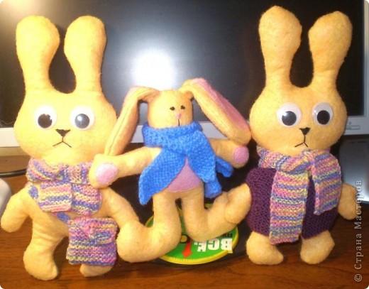 Первыми пошились эти зайцы. фото 3