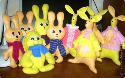 Первыми пошились эти зайцы. фото 5