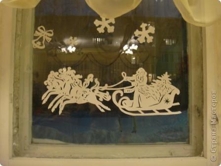 Украшения на окна Вырезание силуэтное.