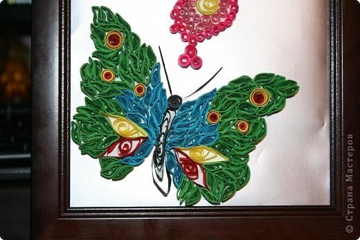 Пришла в голову мысль сделать таких вот  двух бабочек. Фон - фольга фото 2