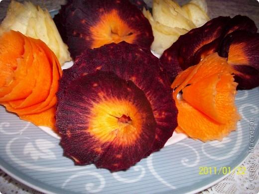 Цветы из моркови. фото 5