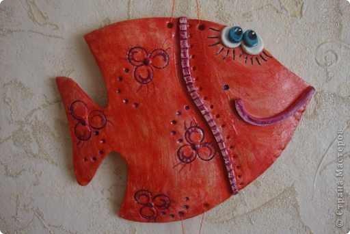 Эти рыбки из соленого теста украсили комнату моих племянниц. фото 2