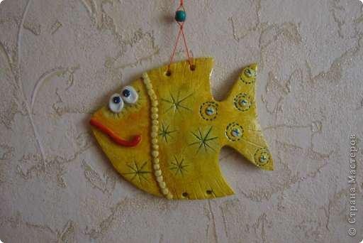 Эти рыбки из соленого теста украсили комнату моих племянниц. фото 1