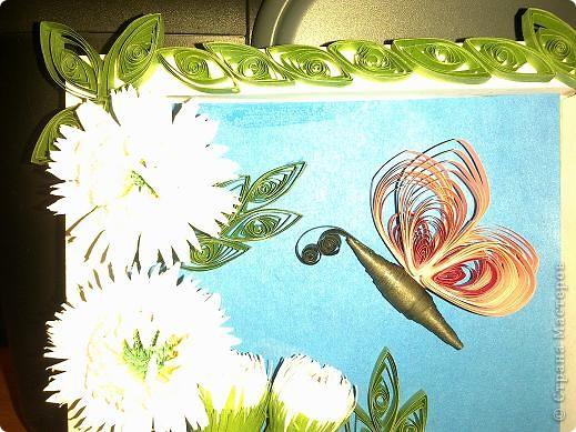 Новая проба квиллинга))) За МК по хризантемам спасибо Ольге Ольшак)))  фото 2