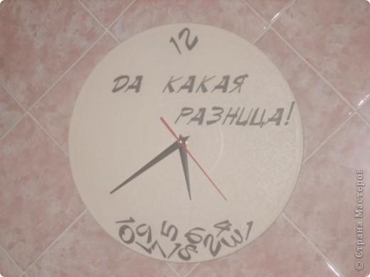Часы. Основа- виниловая пластинка.  Фото не четкое.  фото 1