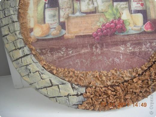 Основа-потолочная плитка, кирпичики из гипса, пробковая крошка. фото 2