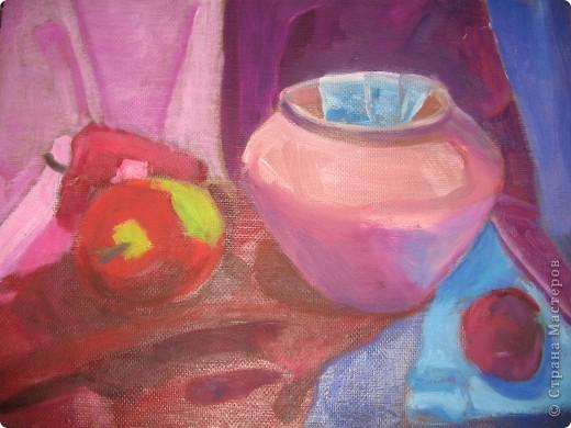 Это моя первая работа которую я рисовала масляными красками. фото 1