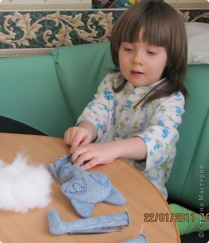 """Вот такую Мурку мы с дочкой сваяли за выходные дни.А оригинал тут: www.nkale.ru """" в каждой игрушке сердце"""". фото 2"""