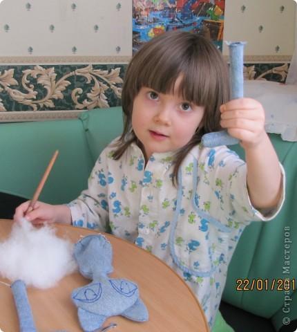 """Вот такую Мурку мы с дочкой сваяли за выходные дни.А оригинал тут: www.nkale.ru """" в каждой игрушке сердце"""". фото 3"""