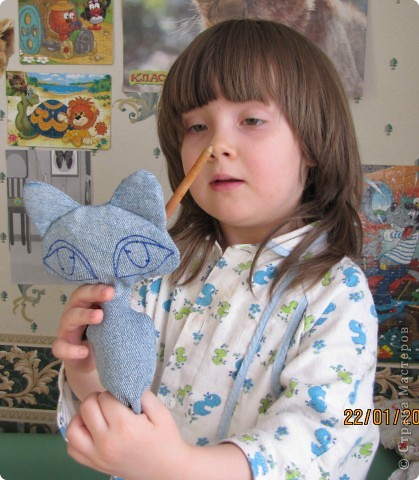 """Вот такую Мурку мы с дочкой сваяли за выходные дни.А оригинал тут: www.nkale.ru """" в каждой игрушке сердце"""". фото 4"""