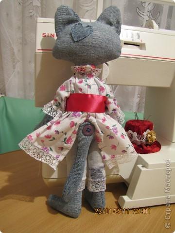 """Вот такую Мурку мы с дочкой сваяли за выходные дни.А оригинал тут: www.nkale.ru """" в каждой игрушке сердце"""". фото 10"""