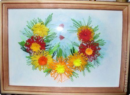 Этот огненный цветок я сделала в подарок соседке Татьяне на именины, пусть он ее согревает теплом моей души! фото 9