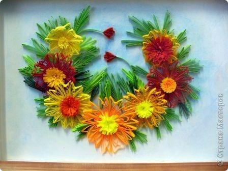 Этот огненный цветок я сделала в подарок соседке Татьяне на именины, пусть он ее согревает теплом моей души! фото 7