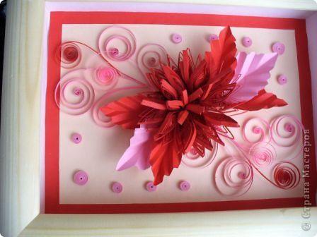 Этот огненный цветок я сделала в подарок соседке Татьяне на именины, пусть он ее согревает теплом моей души! фото 1