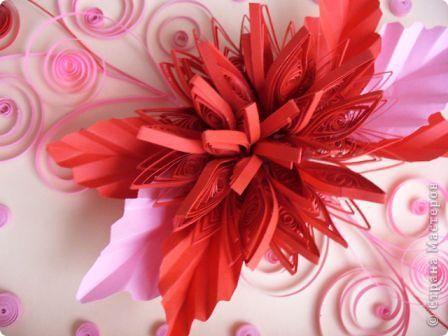 Этот огненный цветок я сделала в подарок соседке Татьяне на именины, пусть он ее согревает теплом моей души! фото 2