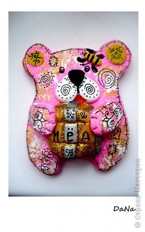 Розовый мишка(магнит)