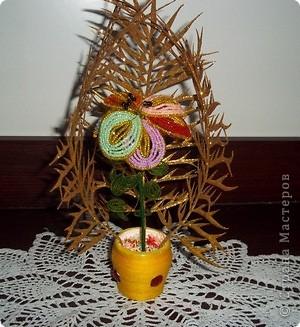 Задумка была такой : Лесные чащи в которых расцвел этот сказочный цветочек! Также можно с обратной стороны листка прикрепить свои желания))) фото 1