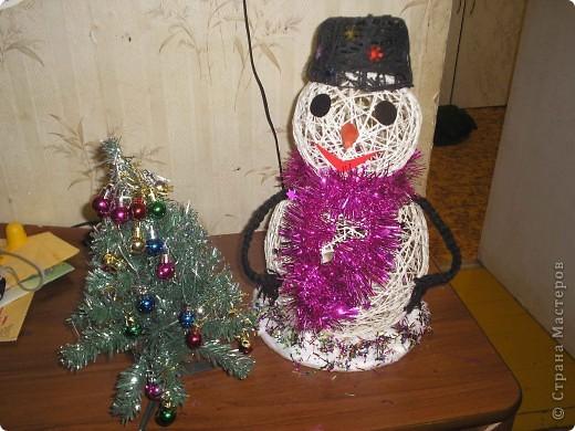 Делала снеговика дочке в школу.Научили меня вы мастерицы,за что большое спасибо!!! фото 1