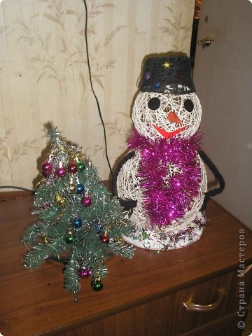 Делала снеговика дочке в школу.Научили меня вы мастерицы,за что большое спасибо!!! фото 2