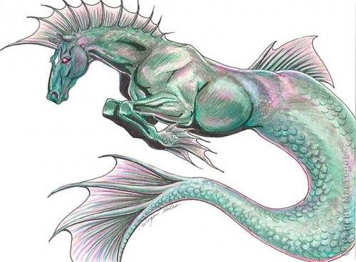 Гиппокамп – морская лошадь в греческой мифологии. фото 10