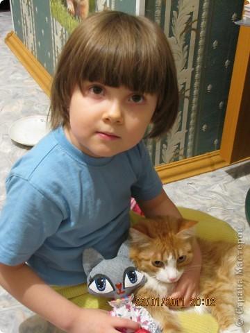 """Вот такую Мурку мы с дочкой сваяли за выходные дни.А оригинал тут: www.nkale.ru """" в каждой игрушке сердце"""". фото 11"""