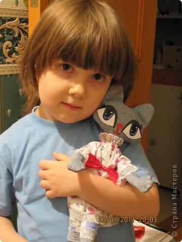 """Вот такую Мурку мы с дочкой сваяли за выходные дни.А оригинал тут: www.nkale.ru """" в каждой игрушке сердце"""". фото 12"""