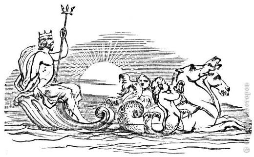Гиппокамп – морская лошадь в греческой мифологии. фото 6