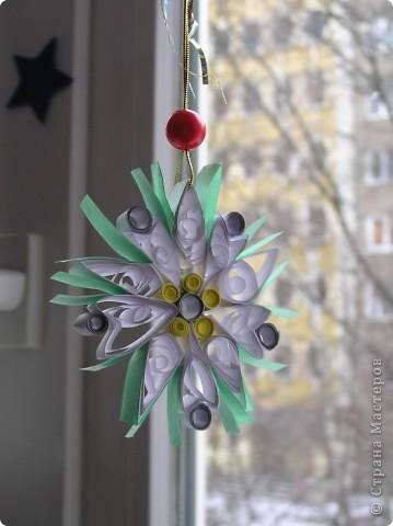 Такие у нас  новогодние украшения для окна в детской  фото 1