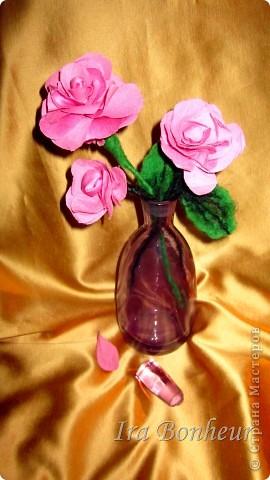 розы из ткани фото 2