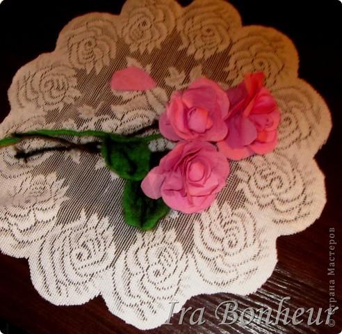 розы из ткани фото 1