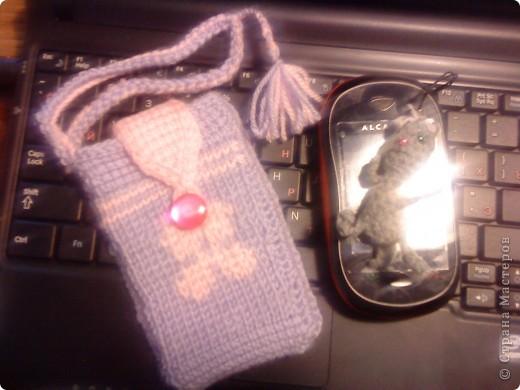 первая проба тунисского вязания сумочка для мобилки не судите строго тунисский крючек взяла первый раз в жизни фото 1