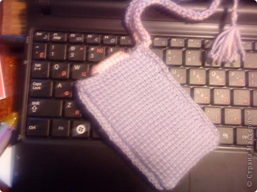 первая проба тунисского вязания сумочка для мобилки не судите строго тунисский крючек взяла первый раз в жизни фото 2