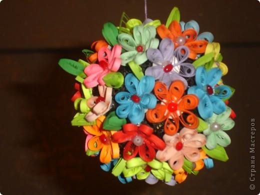 Цветочки на шаре фото 2